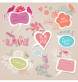 Speech bubbles set love vector image