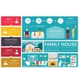 Family House infographic flat vector image