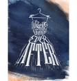 Poster wedding dress blue vector image