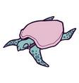 sea turtle stylized vector image