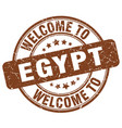 welcome to egypt brown round vintage stamp vector image