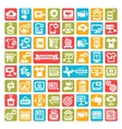 color advertising icons set vector image vector image