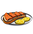 salmon sandwich vector image vector image