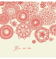 floral line work vector image vector image