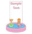 kids in the swimming pool vector image