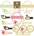 set of label fruit vector image vector image