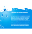 background water drops blue bottle cmyk vector image