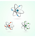 atom icons vector image