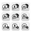 Business meeting communication buttons set vector image