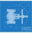 color flat valve icon vector image