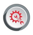 Gear cogwheel with wrench key icon Repair fix vector image