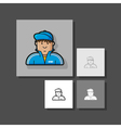 icon guy in a tracksuit and baseball cap vector image