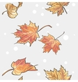 Seamless texture of autumn leaves vector image