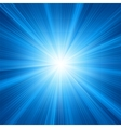Blue star burst background vector image vector image