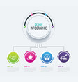 4 abstract circle infographic number business vector image