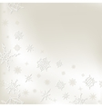 Winter christmas new year template for card vector image vector image