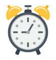 alarm clock flat icon time and deadline vector image