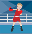 boxing athletic sport cartoon set vector image