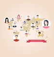 Flat icons for social media vector image