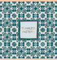 green seamless pattern with silver inserts vector image