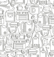 Household appliances seamless pattern vector image