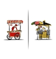 Street sellers sketch for your design vector image