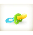 Pacifier icon vector image vector image
