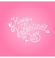 Happy Valentines Day inscription vector image