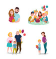 family gift giving set vector image vector image