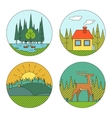 Outdoor Life Symbol Lake Forest House Deer Duck vector image vector image