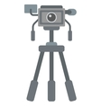 Photo camera on tripod vector image