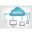 Cloud Service EPS 10 vector image vector image