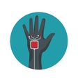 Augmented reality glove technology icon vector image