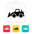 Bulldozer icon vector image