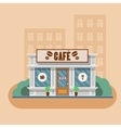 Cafe building vector image