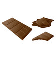 chocolate bar stick drawn in 3d art vector image