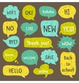 Doodle design with short messages vector image