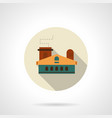 light industry building flat round icon vector image
