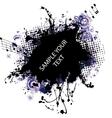 music grunge frame blue vector image