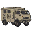 Old military truck vector image