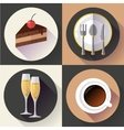 Restaurant and food icons set Flat design vector image