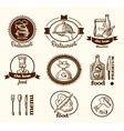 Restaurant label sketch vector image