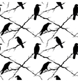 Seamless crows and tree branches vector image