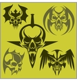 Set of tribal skulls for tattoo vector image