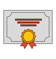 winner diploma with medal vector image