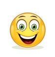 Emoticon with big toothy smile vector image
