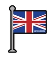 england patriotic flag isolated icon vector image