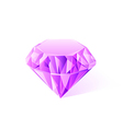 shiny pink amethyst vector image