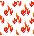 Fire flames seamless pattern vector image