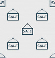 SALE tag icon sign Seamless abstract background vector image